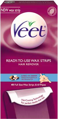 Veet Wax Strips Waxing Kit