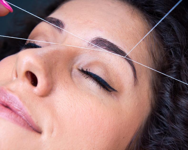 Threading Facial Hair Removal
